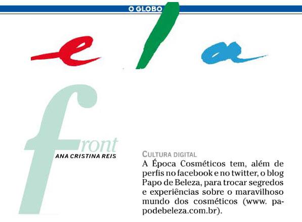 Papo de Beleza no jornal O Globo